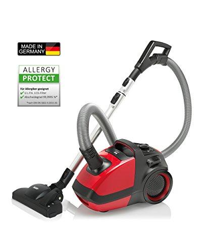 Fakir Air Wave prestige TS 2400, Design Bodenstaubsauger mit Beutel, für Allergiker geeignet durch ULPA Filter