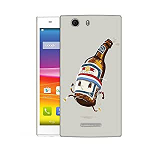 Snoogg Beer Bottle Designer Protective Back Case Cover For MICROMAX NITRO 2