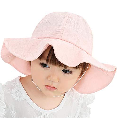 CGXBZA Mode Sommer Hut Outdoor Baby Mädchen Sonnenhut Baumwolle Kinder Kappe Kinder Eimer Kappe Baby Kappen Strand Krempe Sonnenhut -