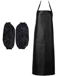 FITYLE Delantal De Chef A Prueba De Agua Para Carnicero Cocina Cocinando  BBQ Catering Ropa + ceeec699264