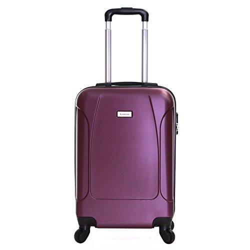 Slimbridge Alameda ABS Bagage Cabine - Bagage à Main Valise Rigide Légere à 4 roulettes, Approuvées pour Ryanair, EasyJet, Air France, Lufthansa, Jet2 et Plus, Violet