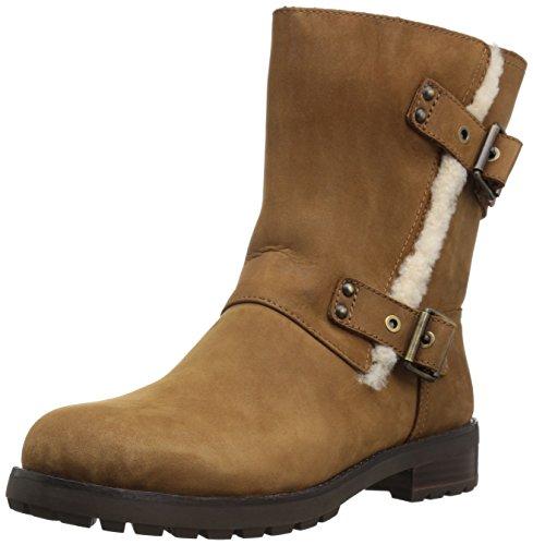 UGG Australia Womens Niels Leather Boots Chestnut
