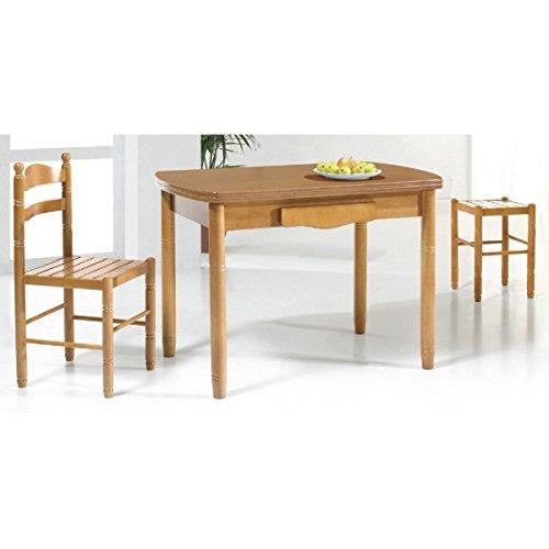 Mesa de cocina fija ovalada de 110 x 70 cm