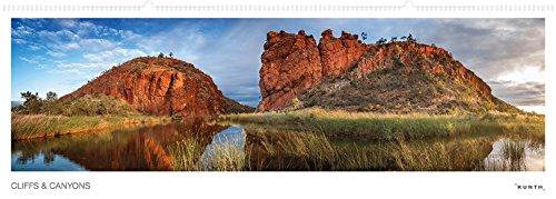 Cliffs & Canyons Kalender: Panoramaformat, immerwährend (KUNTH Wandkalender Panorama 101 x 35 cm)