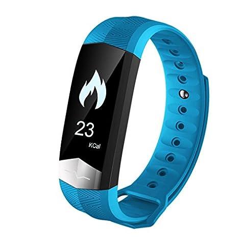 Malloom® Smart Armband Sleep Sport Fitness Activity Puls Tracker Step Counter (blau) (Bequemer Sleep)