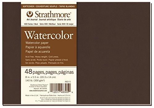 Pro-Art Strathmore Watercolor Zeigen Wandbild Journal 8Zoll x 14cm, 24Blatt