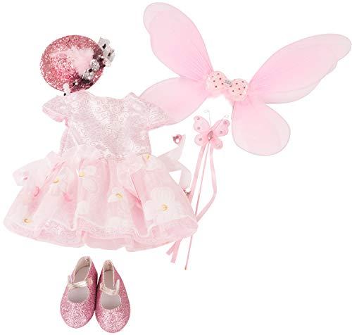Götz 3402898 Kombination Fee - Feen- und Elfenset Puppenbekleidung Gr. XL - 6-teiliges Bekleidungs- und Zubehörset für Stehpuppen 45 - 50 cm -