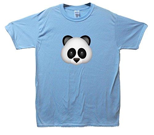 Panda Bear Emoji T-Shirt Hellblau