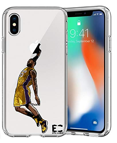 iPhone 6/6S iPhone 7/iPhone 8 Hülle Epic Cases Ultra Slim Crystal Clear Basketball Series Soft Transparent TPU Case Cover Apple (iPhone 6/6s) (iPhone 7) (iPhone 8), iPhone X, LBJ