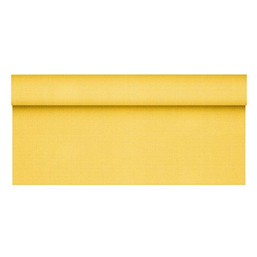 """Papstar, Tischdecke, stoffähnlich, Vlies \""""soft selection plus\"""" 25 m x 1,18 m gelb auf Rolle, #84937"""
