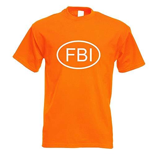 Kiwistar FBI T-Shirt Motiv Bedruckt Funshirt Design Print
