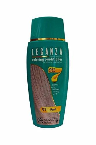 Leganza, Färbemittel Balsam für die Haare ohne Ammoniak, Farbe Perle N91, Naturöl 7.