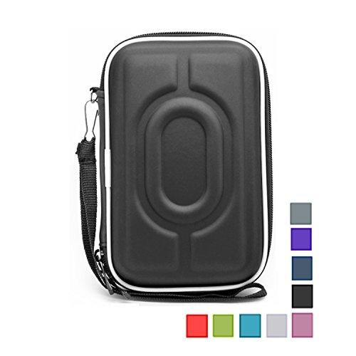 """Preisvergleich Produktbild AsiaLONG Stoßsichere Festplattentasche / Schutzhülle / Hardcase / Tasche / EVA Hülle für 2, 5"""" WD Western Digital Elements External My Passport Essential HDD tragbare,  externe Festplatte (Schwarz)"""