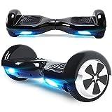 BEBK Hoverboard in Offerta 6.5' Overboard Bambini con Certificazione UL2272 LED,Autobilanciato Skateboard Elettrico, Scooter Elettrico (N1-Carbon)