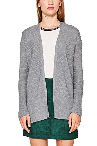 ESPRIT Damen Strickjacke 087EE1I002, Grau (Medium Grey 5 039), Large