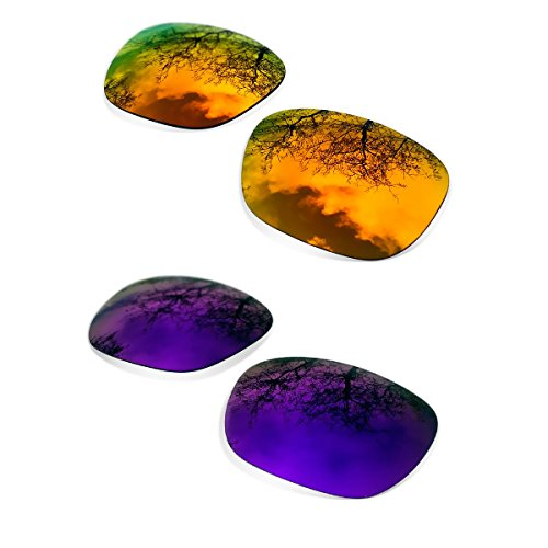 Sunglasses Restorer Lentes de Recambio Polarizadas para Oakley Holbrook ( Elige el Color ) (fire iridium + purple mirror)