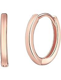 d3dc4d585d27 Rafaela Donata - Aros con cierre - 925 Plata esterlina (chapada en oro rosa)