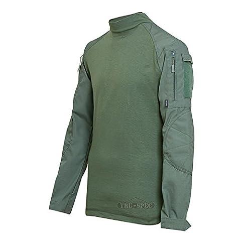 Tru-spec Atlanco 2553005 Tactical Response Uniform Combat Shirt, Large-Regular, Polyester/Cotton, Olive