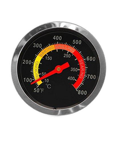 Magic-Elefant Termometro da cucina per la carne, ideale per barbecue e liquidi, intervallo di misurazione da 50°C a 350°C, in metallo in rosso