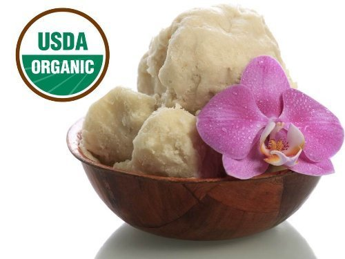 Shea Butter - African Raw Unrefined - USDA Certified Organic - 100% Pure & Natural - 16 OZ - Produced By Women's Co-Ops In Ghana- Excellent Hair Skin & Stretch Mark Benefits - BPA Free & FDA Compliant Container - 30 Day Guarantee by Key West Health & Beauty