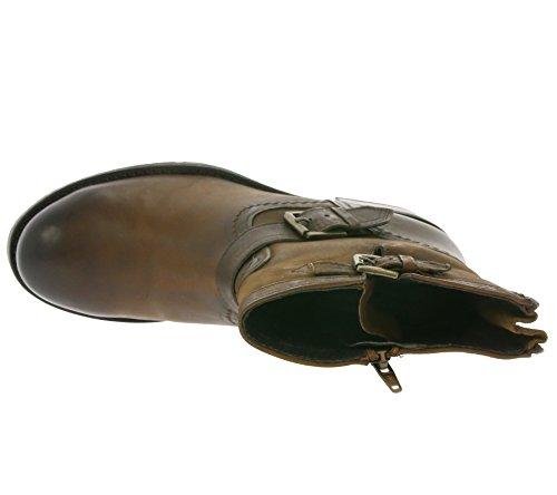 Buffalo Damen Es 30509 Mexico Suede Biker Boots Braun