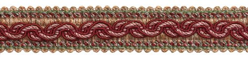 9yard Value Pack-Rot, Light Rose barock Collection Gimp Braid 1-1/10,2cm Stil # 0125bg Farbe: Rose Bouquet-7953(27ft/8Meter) -