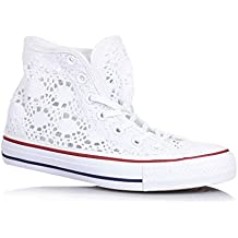 converse bianche pizzo
