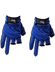 antidérapants friction 3 doigts coupe-bas pêchent gants bleus
