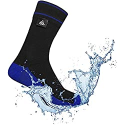 VER JARI Calcetines Impermeables Verjari | Interior Coolmax | Negro y Azul (Negro y Azul, 36-38)