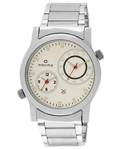 Maxima Attivo Analog White Dial Men's Watch - 22725CMGI image