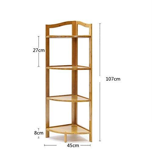 Küche Lagerung und Organisation Boden Ecke Rahmen drehen Racks Bambus Blume Racks home Ecke Regal Storage-Tools Unter Regallagerung ( größe : 45*107cm ) Drehen Spice Rack