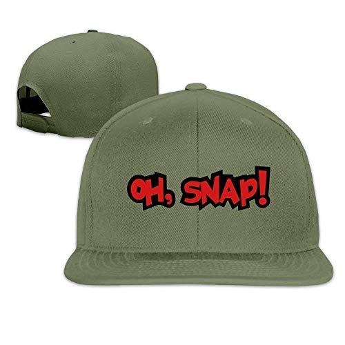 Retro-oh Snap (Classic Baseball Caps Oh, Snap! 7 Flat Bill Summer Climbing,Hiking,Cycling Hats Baseball Cap)