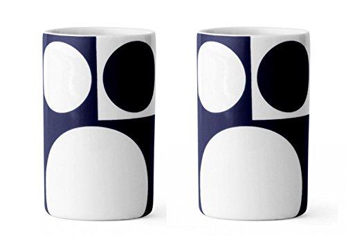 MENU Design Kaffeetassen VERNER PANTON Set 2 Tassen groß Porzellan blau 4551719