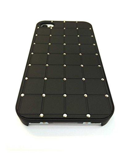 Compact stile Iphone 4 / 4S CRISTALLO DI LUSSO Croce Diamond Black Bling duro della copertura con la pagina nera per Apple iPhone 4 / 4S - Precisione Compact
