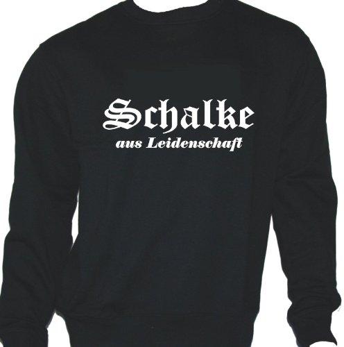 Schalke aus Leidenschaft; Städte Sweatshirt schwarz, Gr. XXXL