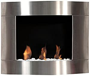 Bio Blaze BB D1i Ethanol Fireplace Diamond I, Wall Mounted, Stainless Steel