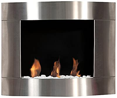 Bio Blaze BB D1i Ethanol Fireplace Diamond I, Wall Mounted, Stainless Steel