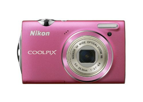 Nikon Coolpix S5100 Digitalkamera (12 Megapixel, 5-fach opt. Zoom, 6.7 cm (2.7 Zoll) Display, HD-Videofunktion) pink