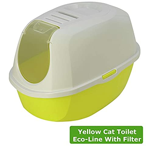 Cat Flip Katzenklo 4Farben, mit Kapuze Pfanne WC-Loo anthrazit Filter