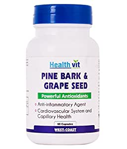 Healthvit Pine Bark Extract with Grape Seed Extract - 60 Capsules