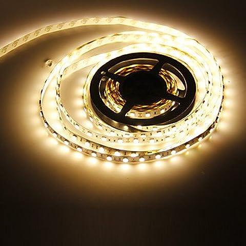Dngy* 5M 72W 300x5050SMD 3000-3500K Luce bianca calda Striscia LED