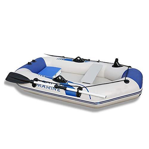 Challenger Schlauchboot Set Verdicktes Schlauchboot-Kajak 2/3/4 Personen-Motorboot-Schlauchboot-Fischerboot-Festbodenboot (Farbe : Weiß, Größe : 2m)