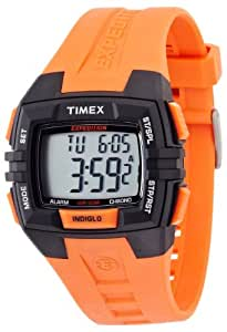 Timex - T49902SU - Expédition - Montre Homme - Quartz Digital - Cadran Gris - Bracelet Résine Orange