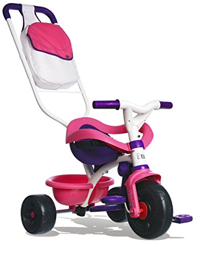 Smoby - 444245 - Tricycle Be Move Confort - Tricycle Evolutif - Rose