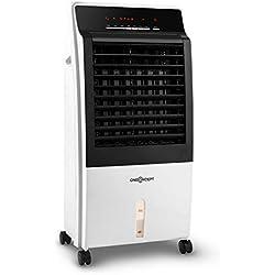 oneConcept CTR-1 • Rafraichisseur d'air • Ventilateur 4-en-1 • Performance économe 65W • Production d'air de 400m³ par heure • 3 Niveaux de puissance • Timer intégré • Filtre poussière intégré • Blanc