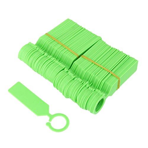 Lot de 100 Etiquette Anneau Suspendu Plastique pour Plante Serre Jardinage - Vert
