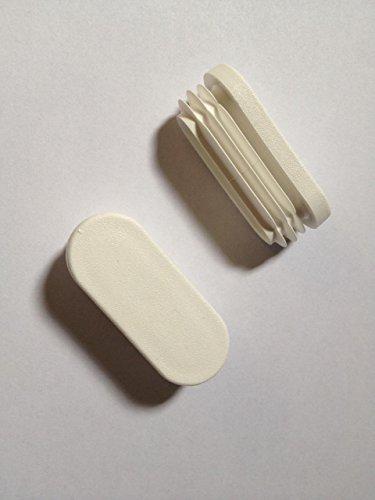 Ovalstopfen 40x20 (WS 1-3) weiß, 24 Stück