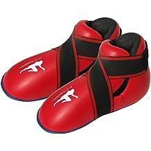 Botas de Kickboxing de Color Rojo Semi/Botas de Boxeo de Contacto Completo para niños