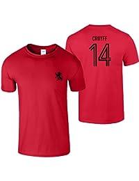 Johan Cruyff 14 Hommes T-Shirt 70s Légende Hollande Football