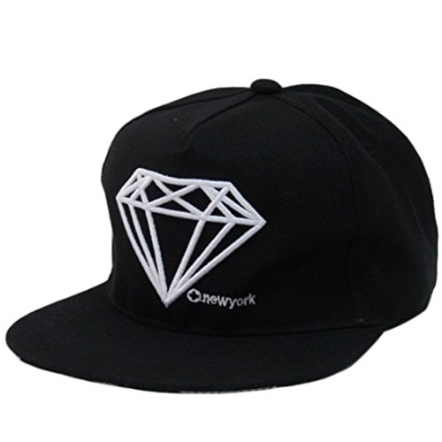 THENICE Hip-Hop Unisex Cappellino Baseball Cappello (diamond nero)